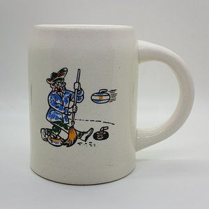 Vintage Curling Cup Mug Made In Canada